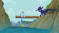 Rainbow Dash saved by Mare Do Well S2E8