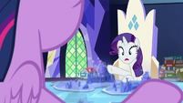 "Rarity ""darling, your diorama!"" S7E25"