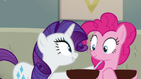 Rarity --you stay here and make sure-- S6E12