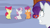 Rarity shocked by Sweetie Belle's idea S9E22