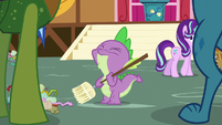 Spike gulps nervously S7E15