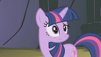 Twilight looks at Pinkie S01E07