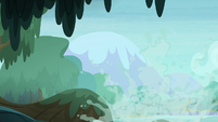 Water splashing up in the Everfree swamp S8E13