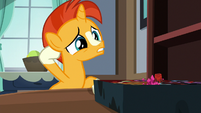 Young Sunburst rubs the back of his head S7E24