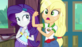 "Applejack ""hoisted Rarity up the rock climbin' wall"" EG4.png"