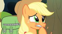 Applejack biting on her hoof S4E17