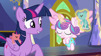 Flurry Heart nodding her head S7E3