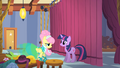 Fluttershy and Twilight backstage S1E20.png