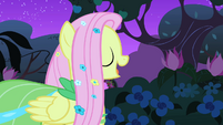Fluttershy calling out to the bird S1E26