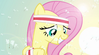 Fluttershy looking down S2E22