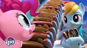 My Little Pony The Best Eclaire Jenga Player - Rainbow Dash! 'Hello Pinkie Pie' Ep