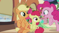 Pinkie says -we do that too!- again S5E20