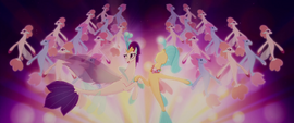 Queen Novo surrounded by singing seaponies MLPTM