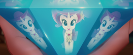 Rarity's refracted reflection in the diamond MLPTM
