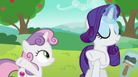Rarity rejecting Sweetie Belle's modification S6E14