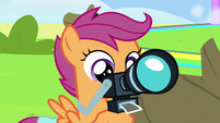 Scootaloo takes another picture of Rainbow S7E7