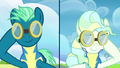 Sky Stinger and Vapor Trail lower their goggles S6E24.png