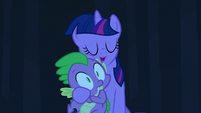 Spike and Twilight hug 2 S3E2