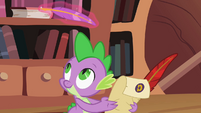 Spike looking at quill S2E03