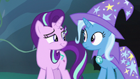 Starlight Glimmer smirks hintingly at Trixie S7E17