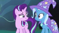 Starlight Glimmer smirks hintingly at Trixie S7E17