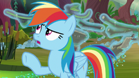 Tree bark and vines floating behind Rainbow S8E17