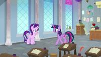 Twilight and Starlight in restored classroom S9E20