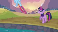 Twilight stopping Rainbow Dash S2E22