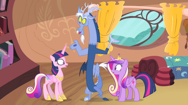 File:Twilight with Cadance's mane and Cadance with Twilight's mane S4E11.png