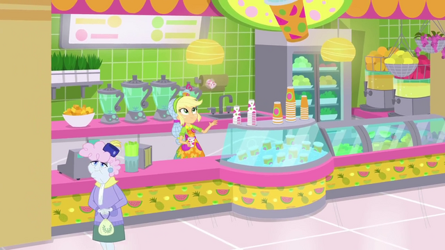 File:Applejack flipping cups at her juice bar SS9.png