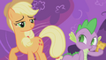 Applejack looking at Spike S1E3.png