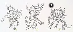 Art of Equestria page 100 - Queen Chrysalis concept art