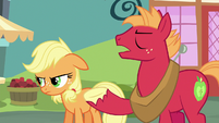 Big Mac --the tradition of everypony in Ponyville linin' up-- S6E23