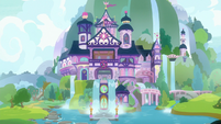 Exterior view of the School of Friendship S8E4