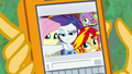 Photo of Fluttershy, Rarity, and Sunset on Sunset's phone EGFF.png