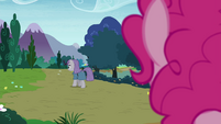 Pinkie watching Maud leave S4E18