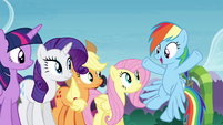 "Rainbow Dash ""did you see how fast"" S4E18"