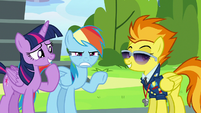 Rainbow Dash annoyed --I heard that!-- S6E24