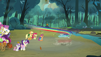 Rainbow about to spin S3E6