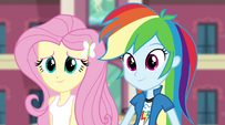Rainbow and Fluttershy listening to Twilight EG2