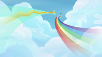 Rainbow and Lightning flying fast S3E07