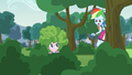 """Rainbow asks Pinkie """"what are you doing?"""" EG3.png"""