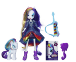 Rarity Equestria Girls Rainbow Rocks and pony set