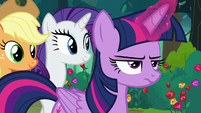 Twilight Sparkle looking annoyed S8E13