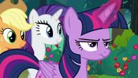 Twilight Sparkle looking annoyed S8E13