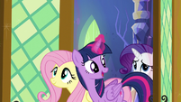 Twilight opens the dining room doors S5E3
