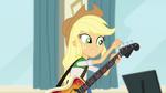 Applejack tuning her bass guitar EG2
