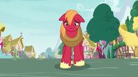 Big Mac walks through Ponyville depressed S8E10