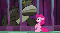Creature's smile slumps into a frown S8E25