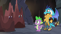 Ember and Spike looking at Twilight and Rarity S6E5.png